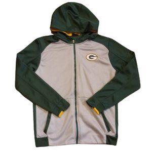 NFL Green Bay Packers Zip Up Hoodie   Grey / Green